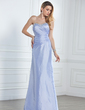 Sheath/Column Sweetheart Floor-Length Taffeta Bridesmaid Dress With Ruffle Beading (007001057)