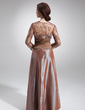 A-Line/Princess Sweetheart Floor-Length Taffeta Mother of the Bride Dress With Ruffle Lace Beading (008006297)