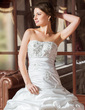 Ball-Gown Sweetheart Chapel Train Taffeta Wedding Dress With Ruffle Lace Beading (002004436)
