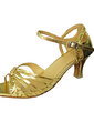 Women's Leatherette Sparkling Glitter Heels Sandals Latin With Buckle Dance Shoes (053013276)