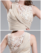 Sheath/Column Scoop Neck Floor-Length Chiffon Prom Dress With Ruffle Beading Flower(s) (018022747)