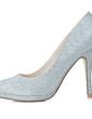 Kadın Köpüklü Glitter İnce Topuk Kapalı Toe Platform Pompalar (047057076)