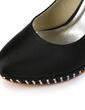 Women's Satin Cone Heel Closed Toe Platform Pumps With Bowknot Rhinestone (047029183)
