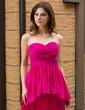 Sheath/Column Sweetheart Ankle-Length Maternity Bridesmaid Dress With Cascading Ruffles (007027254)