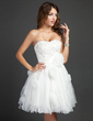 A-Line/Princess Sweetheart Short/Mini Organza Homecoming Dress With Ruffle Beading Sequins (022015349)