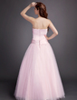 Ball-Gown Sweetheart Floor-Length Satin Tulle Quinceanera Dress With Ruffle Beading (021004599)