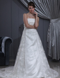 Empire Strapless Chapel Train Tulle Lace Wedding Dress With Beading (002000267)