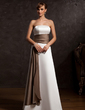 A-Line/Princess Strapless Floor-Length Satin Mother of the Bride Dress With Sash (008015120)