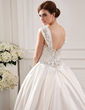 Ball-Gown Sweetheart Cathedral Train Satin Wedding Dress With Embroidered Beading Sequins (002012772)