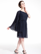 A-Line/Princess One-Shoulder Knee-Length Chiffon Cocktail Dress With Pleated (016021170)