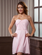 A-Line/Princess Sweetheart Short/Mini Chiffon Homecoming Dress With Ruffle (022011166)