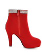 Suede Stiletto Heel Ankle Boots With Rhinestone shoes (088054710)
