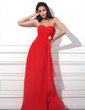 Empire Sweetheart Floor-Length Chiffon Evening Dress With Beading Cascading Ruffles (017012864)