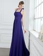Çan/Prenses Yular Uzun Etekli Chiffon Nedime Elbisesi (007000931)