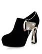 Gerçek Deri Kalın Topuk Ayak bileği Boots Ile Yapay elmas ayakkabı (088057308)