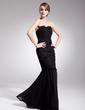 Trumpet/Mermaid Sweetheart Floor-Length Chiffon Evening Dress With Ruffle (017014563)