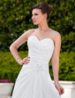A-Line/Princess Sweetheart Court Train Taffeta Wedding Dress With Ruffle Lace Beading (002012023)
