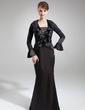 Denizkızı Askısız Kuyruklu Charmeuse Gelin Annesi Elbisesi (008006415)