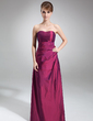 A-Line/Princess Sweetheart Floor-Length Taffeta Bridesmaid Dress With Ruffle Beading (007001050)