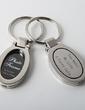 Personalized Oval Zinc Alloy Keychains/Photo Frame (Set of 4) (051028938)