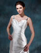 A-Line/Princess Sweetheart Watteau Train Charmeuse Wedding Dress With Ruffle Beading (002011778)