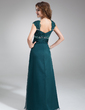 A-Line/Princess V-neck Floor-Length Chiffon Mother of the Bride Dress With Ruffle Lace Beading (008005696)