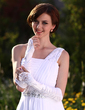 Elastic Satin Elbow Length Bridal Gloves (014002239)