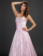 A-Line/Princess Sweetheart Floor-Length Organza Quinceanera Dress With Embroidered Beading Sequins (021015338)
