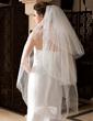 Three-tier Fingertip Bridal Veils With Cut Edge (006036664)