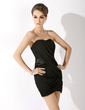 Sheath/Column Sweetheart Short/Mini Chiffon Cocktail Dress With Ruffle Beading (016008886)