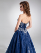 Ball-Gown Sweetheart Floor-Length Organza Quinceanera Dress With Embroidered Beading (021004556)