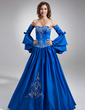 Ball-Gown Sweetheart Floor-Length Satin Quinceanera Dress With Embroidered Beading (021002843)