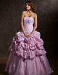 Ball-Gown Strapless Floor-Length Taffeta Wedding Dress With Ruffle Lace Beading (002012926)