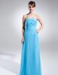 A-Line/Princess Strapless Floor-Length Chiffon Evening Dress With Ruffle Beading (017015787)