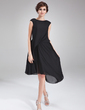 A-Line/Princess Scoop Neck Asymmetrical Chiffon Cocktail Dress With Ruffle Beading (016021163)