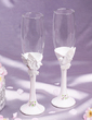 Lovebird design Lead-free Glass Toasting Flutes (Set Of 2) (126033853)
