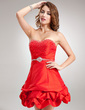 A-Line/Princess Sweetheart Short/Mini Taffeta Homecoming Dress With Ruffle Beading Sequins (022020759)