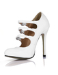 Patent Leather Stiletto Heel Pumps Closed Toe With Buckle shoes (085016995)