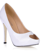 Dla kobiet Skóry lakierowanej Szpilki Peep Toe Platforma Sandały (047015259)