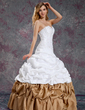 Ball-Gown Sweetheart Floor-Length Taffeta Quinceanera Dress With Ruffle Beading (021003114)