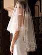 One-tier Fingertip Bridal Veils With Cut Edge (006036658)