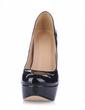 Patent Leather Stiletto Heel Pumps Platform Closed Toe shoes (085020589)