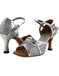 Women's Leatherette Sparkling Glitter Heels Sandals Latin Dance Shoes (053018536)