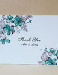Personalized Floral Design Hard Card Paper Thank You Cards (Set of 50) (118029381)