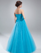 Ball-Gown Sweetheart Floor-Length Tulle Quinceanera Dress With Ruffle Beading (021018806)