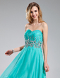 A-Line/Princess Sweetheart Floor-Length Chiffon Prom Dress With Beading Sequins Cascading Ruffles (018018770)