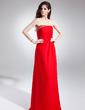 Empire Strapless Watteau Train Chiffon Prom Dress With Ruffle Beading (018015873)