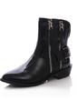 Gerçek Deri Alçak Topuk Ayak bileği Boots Ile Fermuar ayakkabı (088057060)