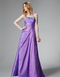 A-Line/Princess Sweetheart Floor-Length Taffeta Bridesmaid Dress With Ruffle Appliques Lace (007000816)