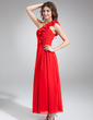 A-Line/Princess One-Shoulder Ankle-Length Chiffon Bridesmaid Dress With Ruffle (007016834)